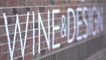 Wine & Design brick wall