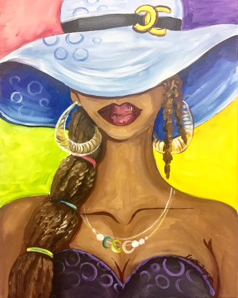 IN-STUDIO: Lady Channel 16x20 Acrylic on Canvas