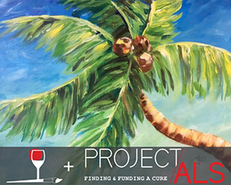FREE VIRTUAL FUNDRAISER CLASS FOR PROJECT ALS!  Choose to purchase your supply kit with virtual class or supply your own canvas, paints and brushes!  Virtual Zoom class is FREE!