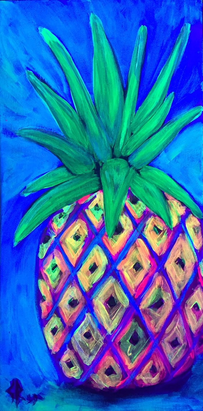 Blacklight Pineapple-ALL AGES WELCOME