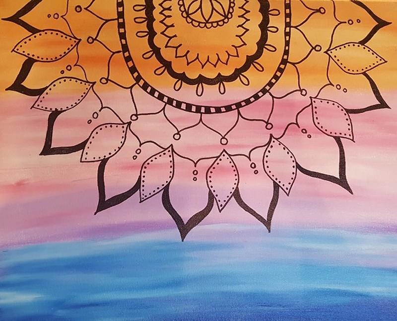 Yoga Day--Colorful Mandal