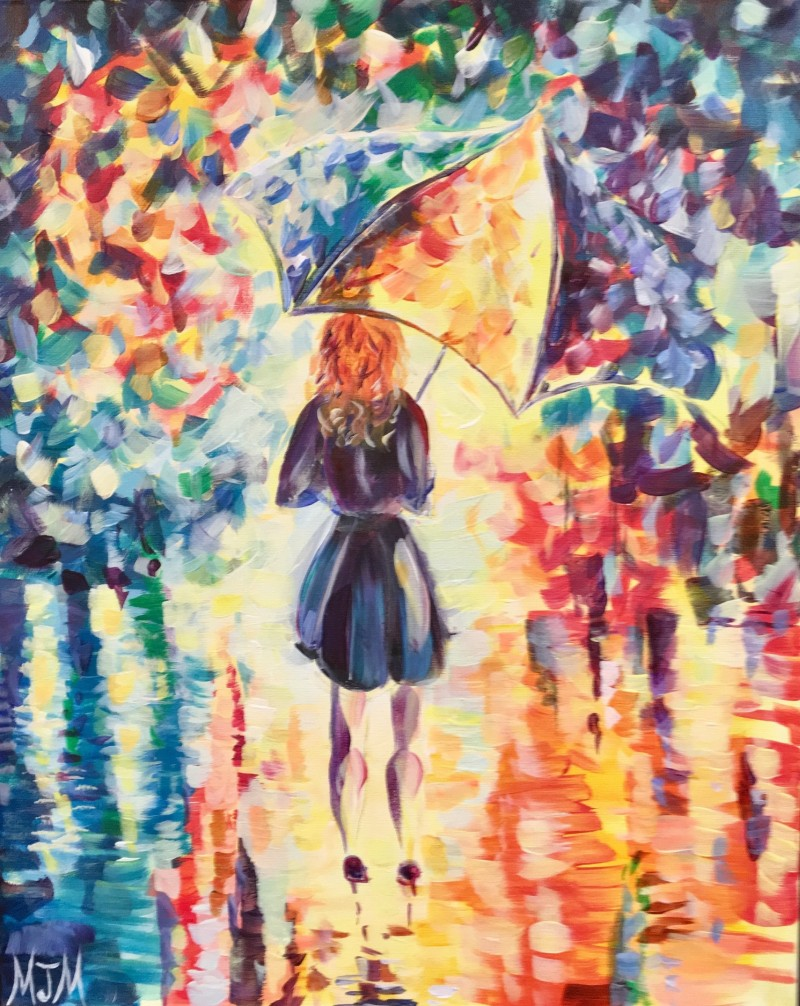 VIRTUAL EVENT- Colorful Umbrella Girl