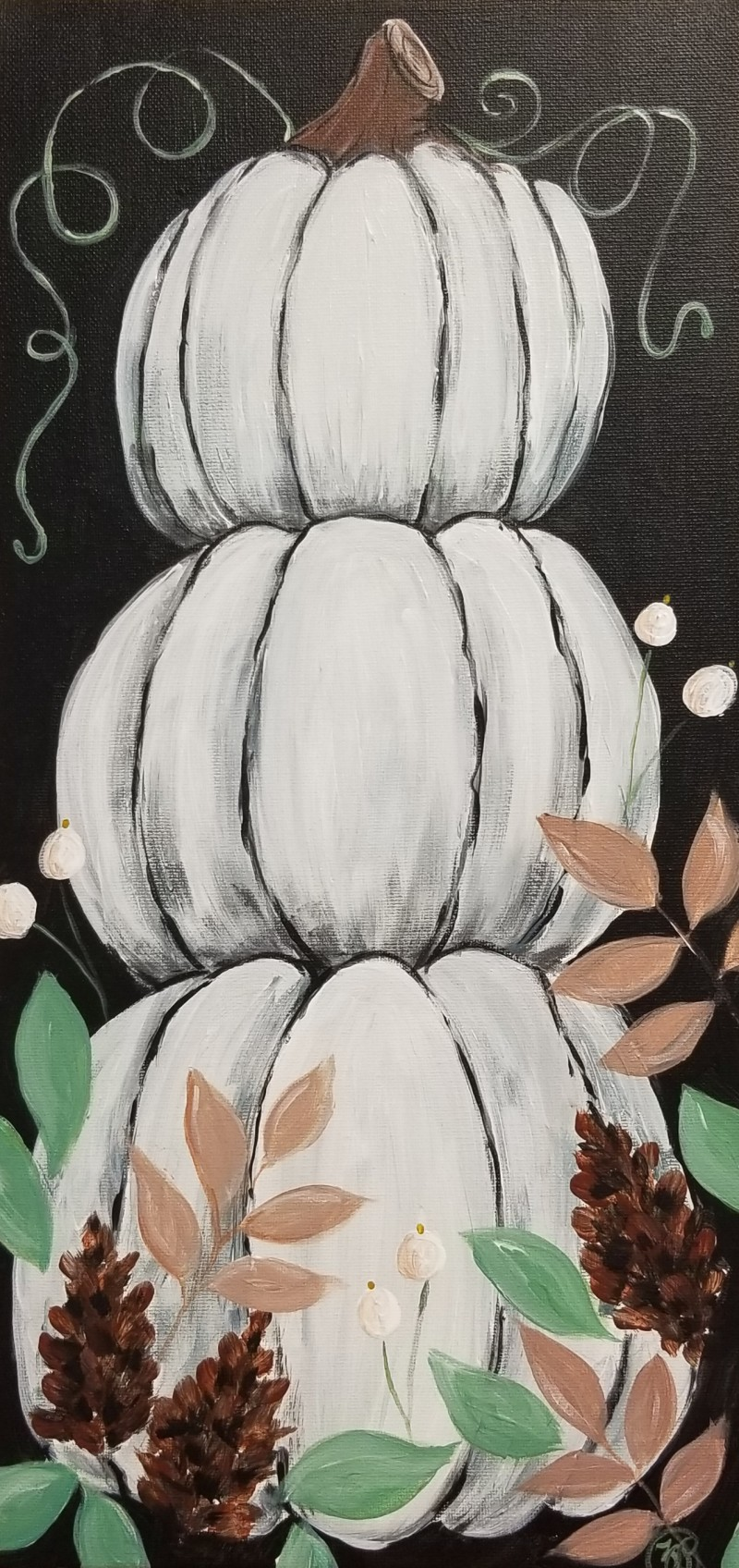 3 PM In Studio | Stacked Pumpkins