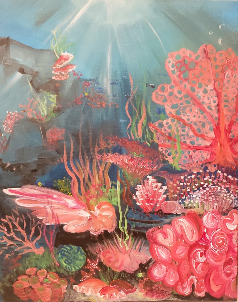 Coral Under the Sea | 6:30-9:00pm (Advanced 2.5 Hour Class)