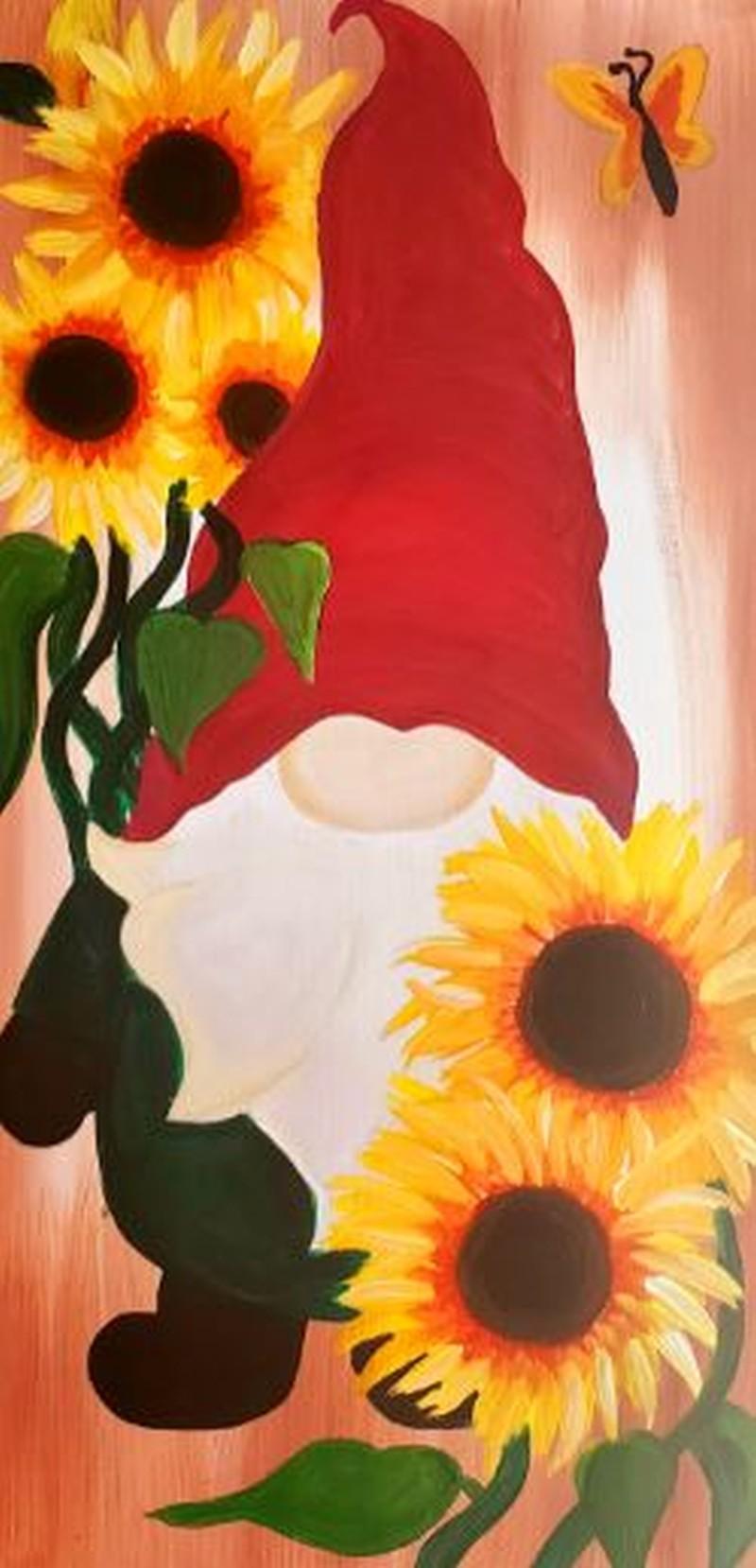 Sunflower Gnome - In Studio or Virtual