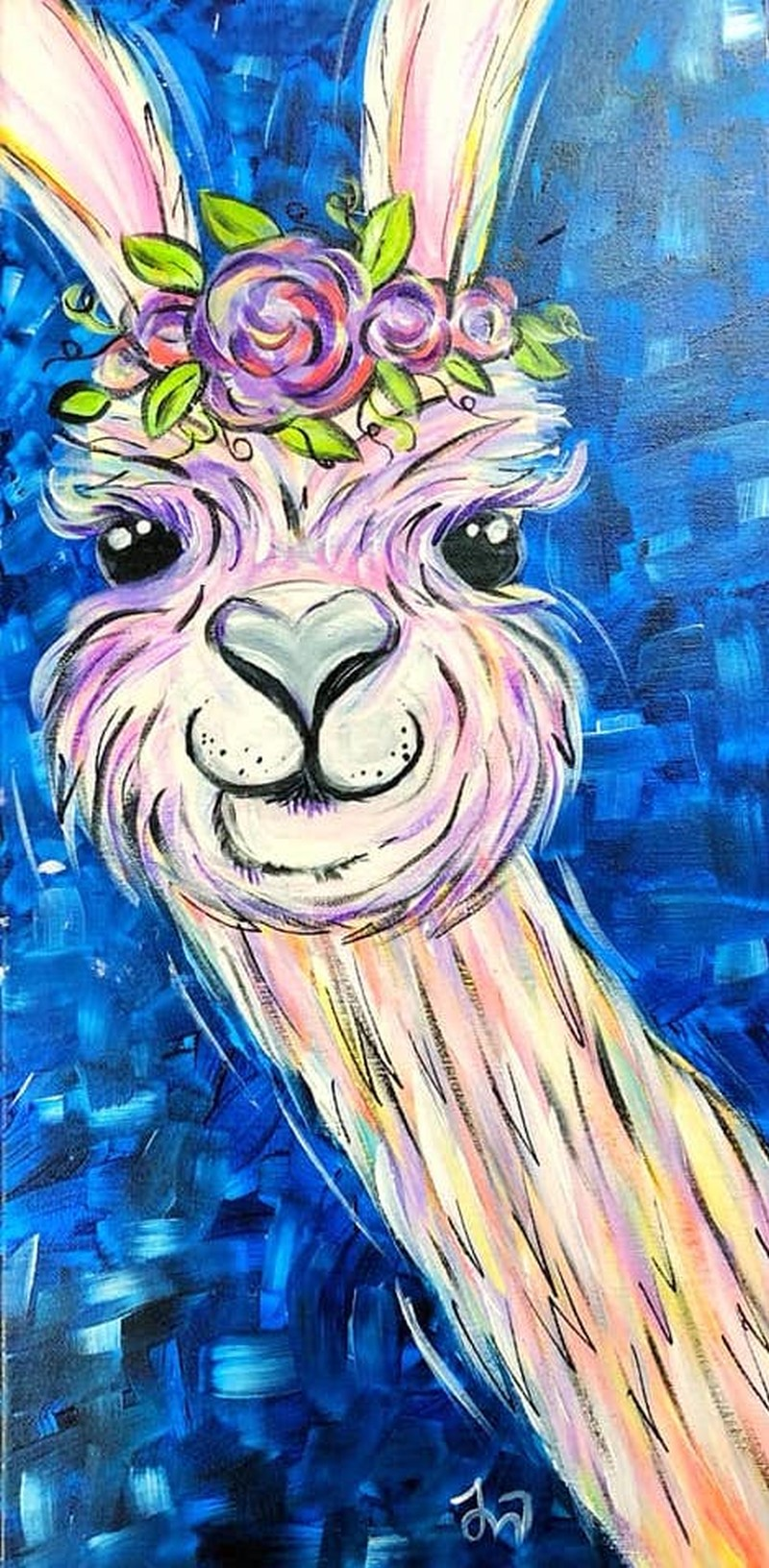 Lilac the Llama- TAKE HOME PAINT KIT - - ORDER TODAY! CURB SIDE PICK UP TOMORROW 2PM-5PM!
