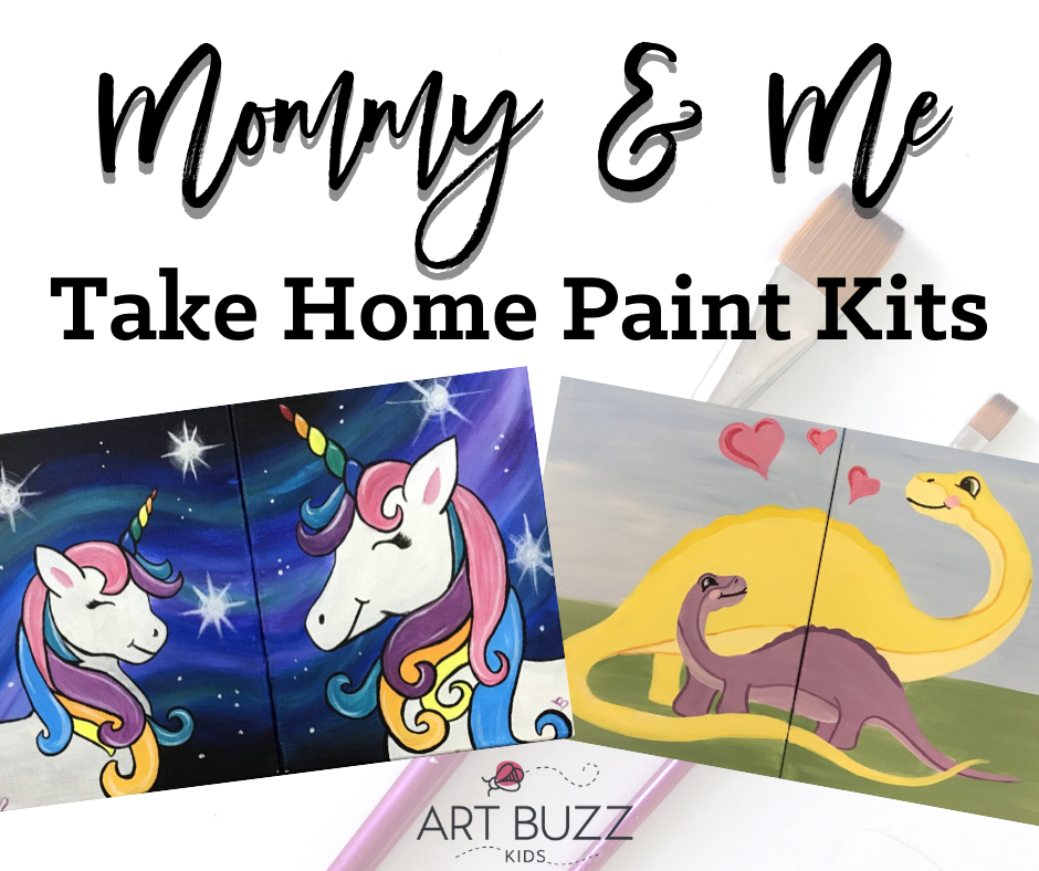 Mommy and Me Take-Home Paint Kit | Curbside Pick Up July 16th 10-2
