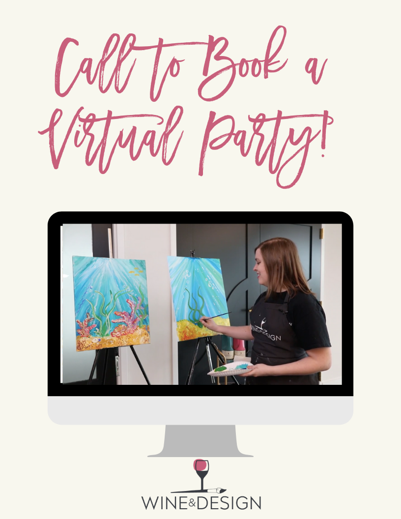 This Date is AVAILABLE for a Virtual Private Party! Choose ANY Painting & Time! Call 919-355-2855 to book your event!