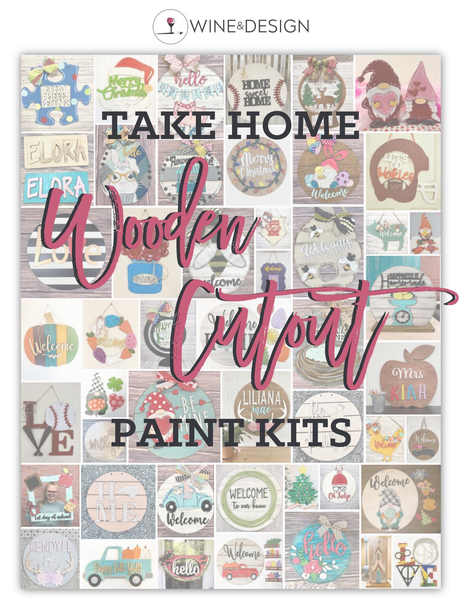 SALE - Wooden Cutout Take Home Kits