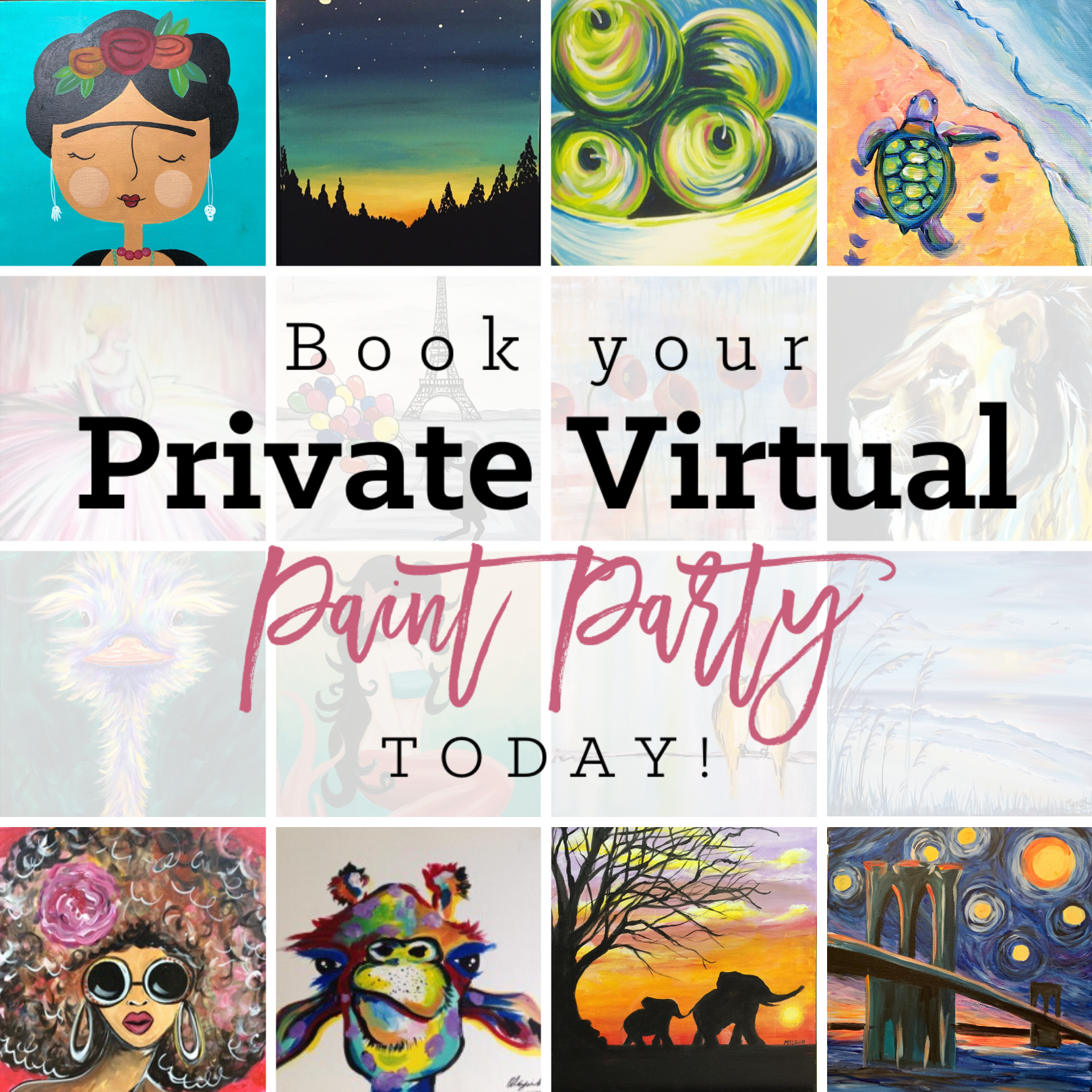 NOW OFFERING LIVE VIRTUAL PRIVATE PARTIES!