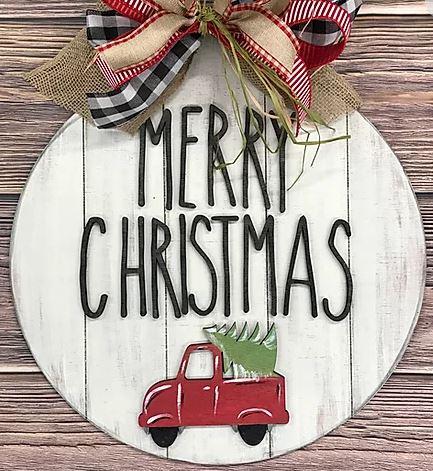 PRE-ORDER: Merry Christmas Truck Door Hanger