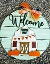 "IN-STUDIO: Pumpkin Barn - 22"" Wooden Door Sign"