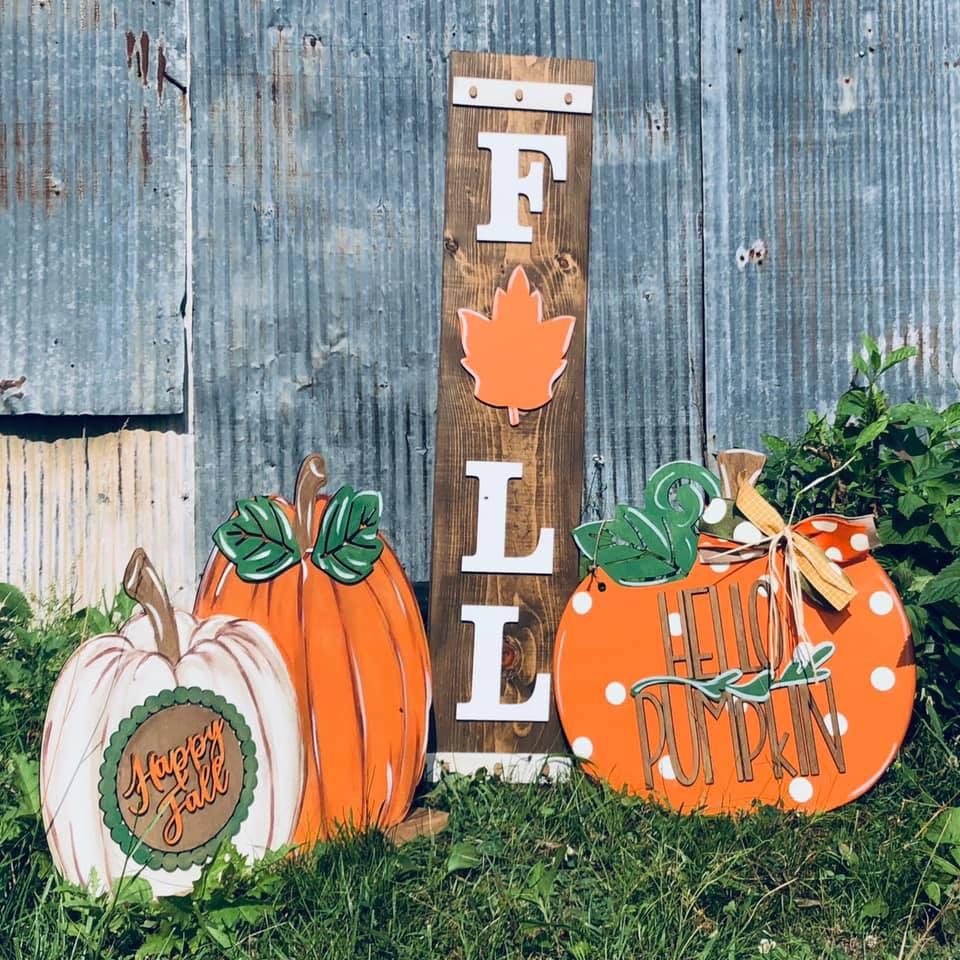 Hello Pumpkin 3 Piece Porch Set