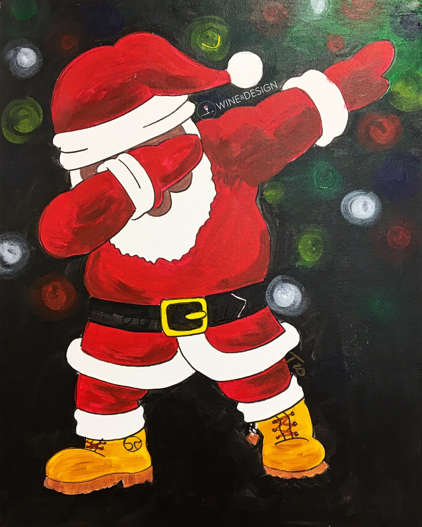 LIVE ZOOM CLASS | DABBING SANTA  | PAINT KIT INCLUDED