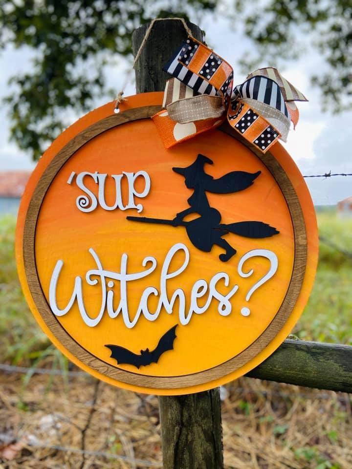 'SUP WITCHES DOOR HANGER