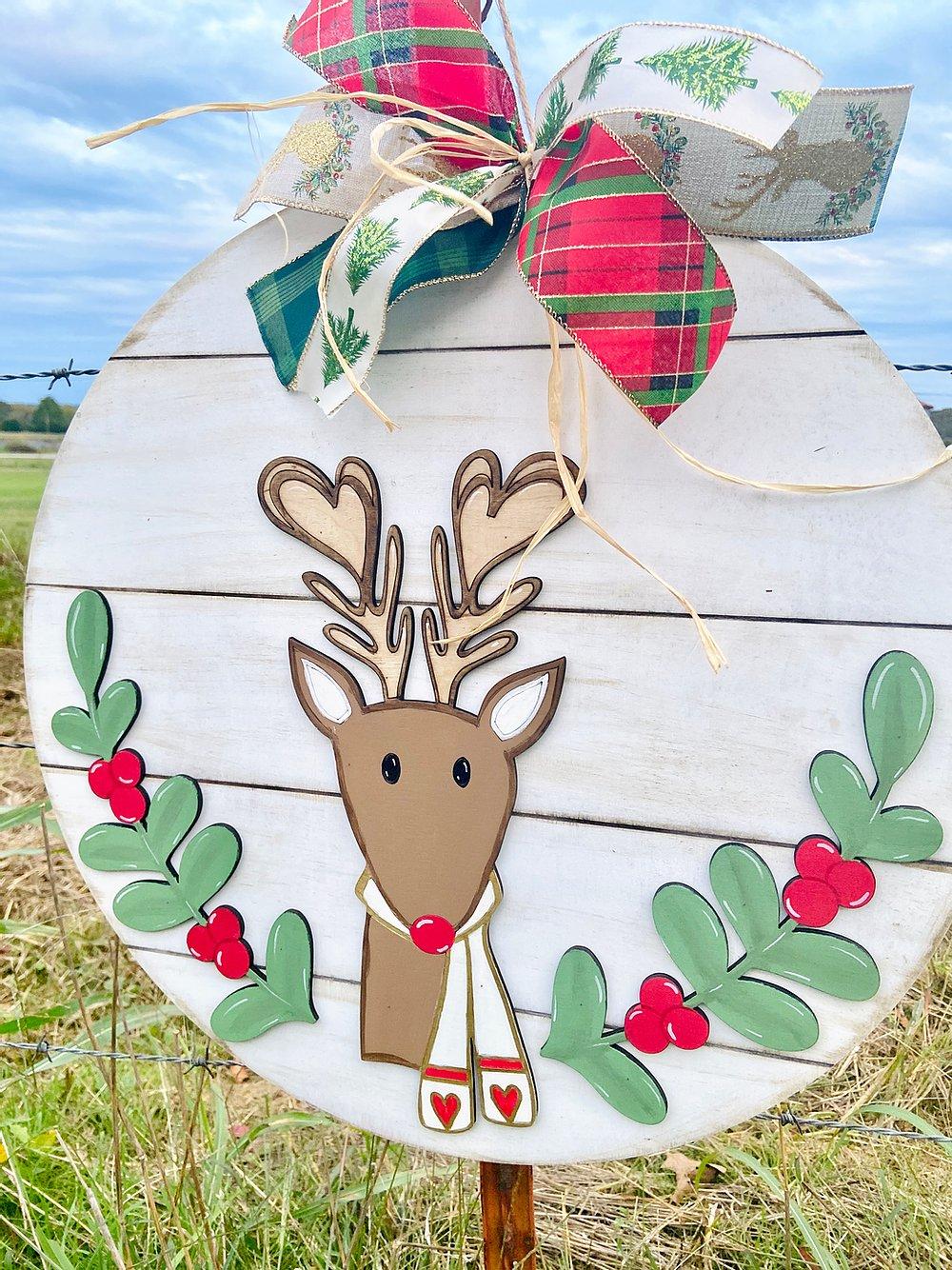 PRE-ORDER: Reindeer Door Hanger