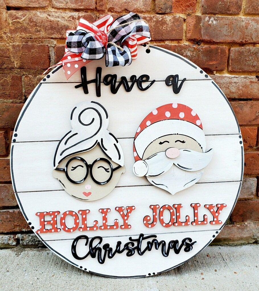 PRE-ORDER: Holly Jolly Door Hanger
