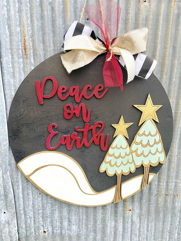 PRE-ORDER: Peace on Earth Door Hanger