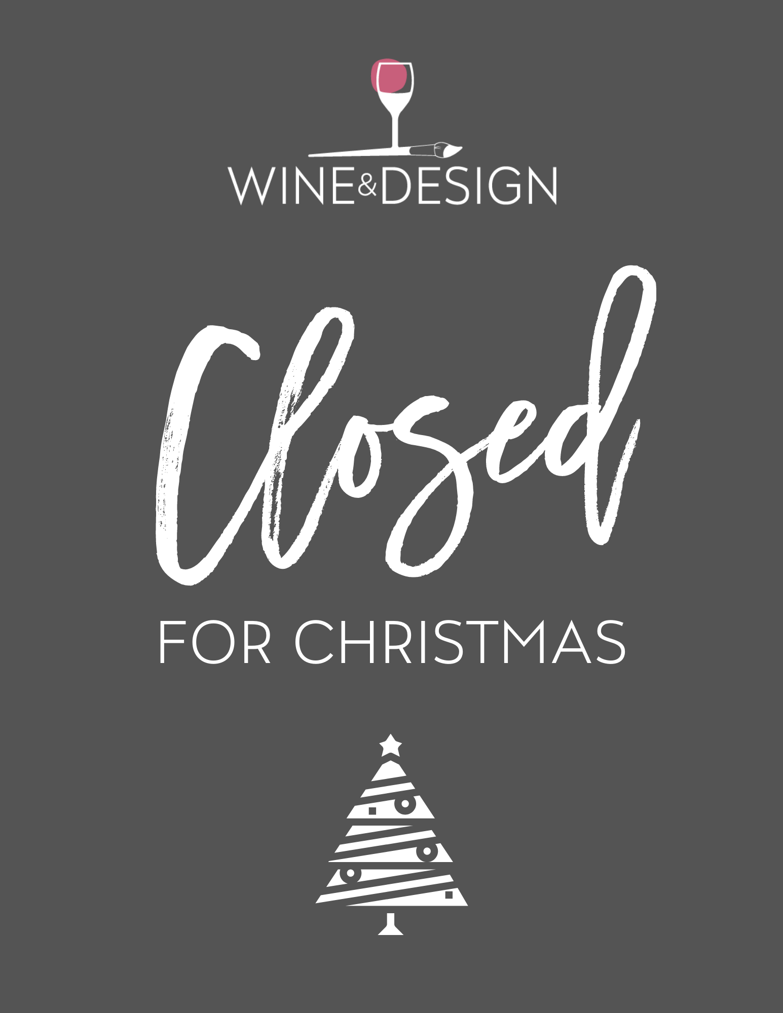Closed for Christmas!