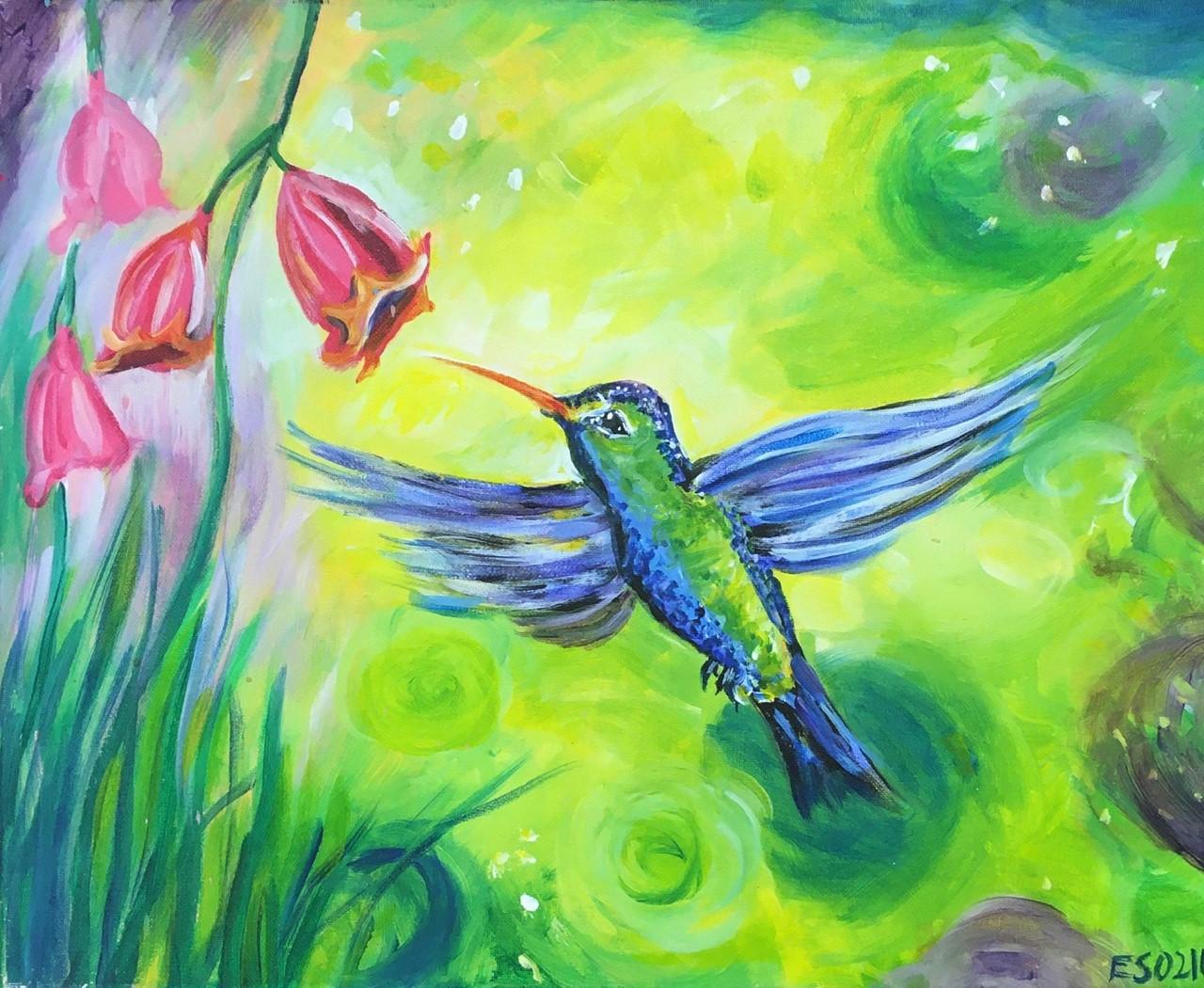 Art in the Park! Green Hummingbird