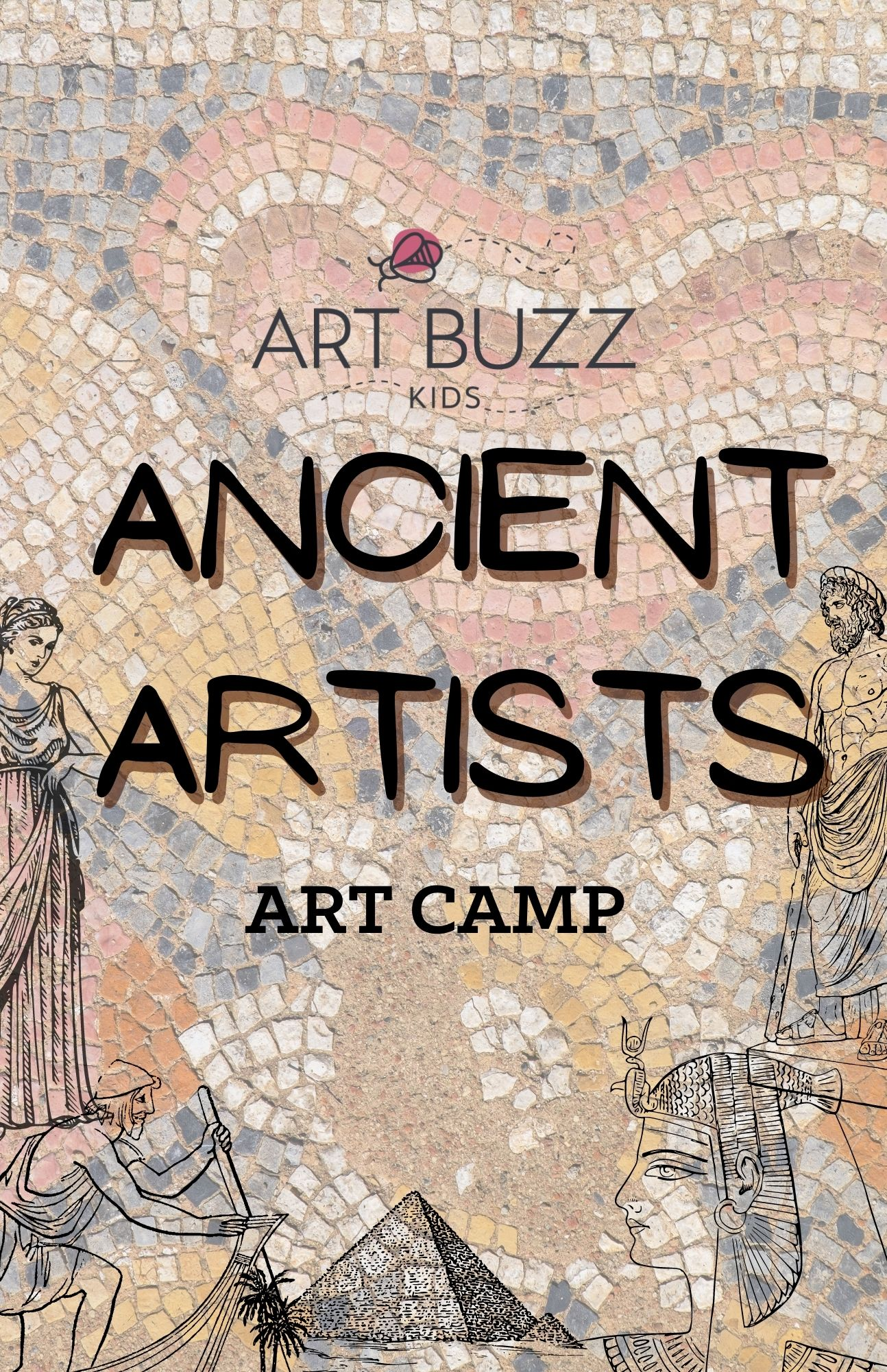 """IN-STUDIO """"Ancient Artists"""" Summer Camp, 9 AM - 4 PM,  June 21-25th"""