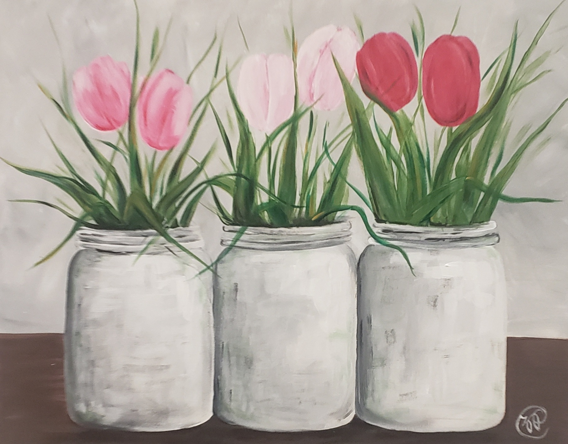 IN-STUDIO: Spring Jars 16x20 Acrylic on Canvas