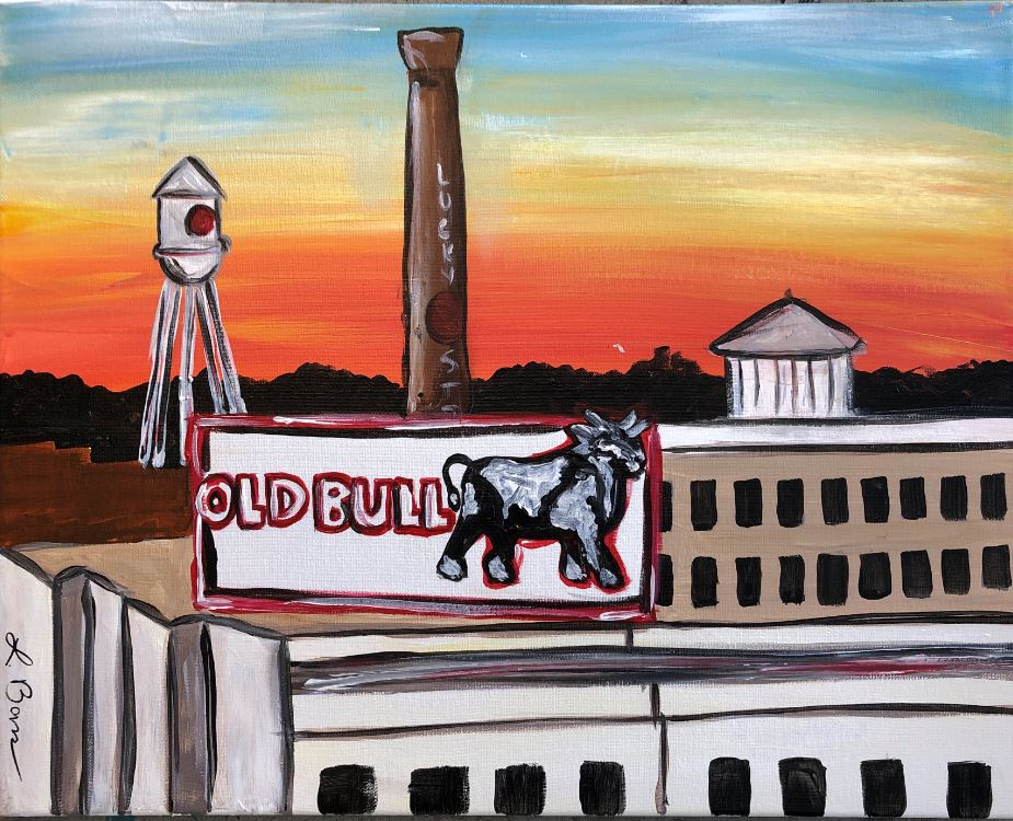 Paint at Hi-Wire: Old Bull!