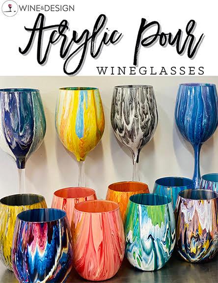 Acrylic Pour Wine Glasses, 2 glasses per person