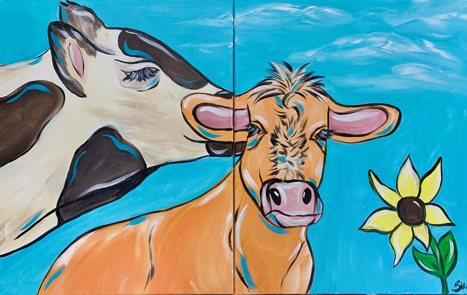 Mother's Day Event: Mommy & Me Cows 1pm-2:30pm - In Studio Class