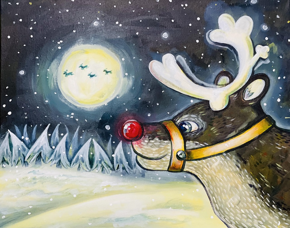 Rudolph's Nose- Virtual and In-Studio