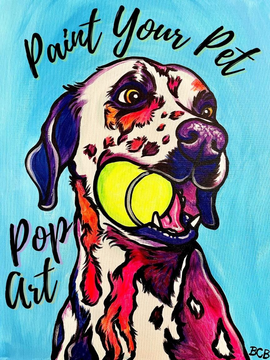 Pop Art Paint Your Pet at State Line Distillery **Deadline to book 11/13**