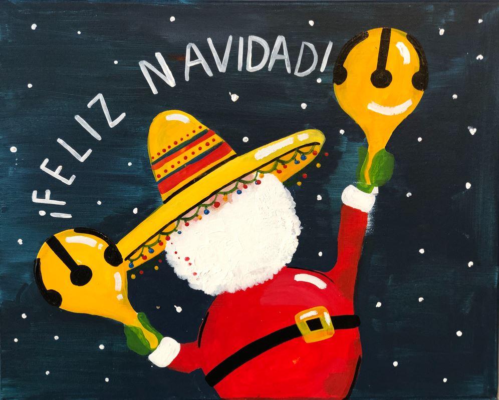 New Painting! Feliz Navidad: In studio Class!