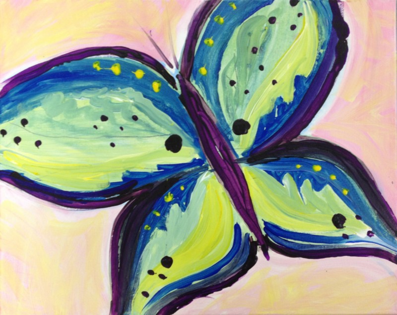 Kiddo Butterfly | ART BUZZ KIDS | IN-STUDIO CLASS