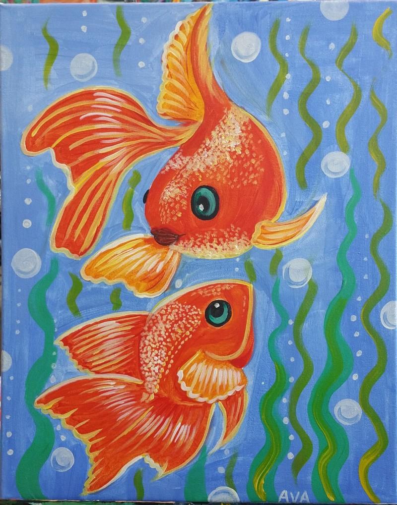 Art Buzz Kids    Kiddo Goldfish