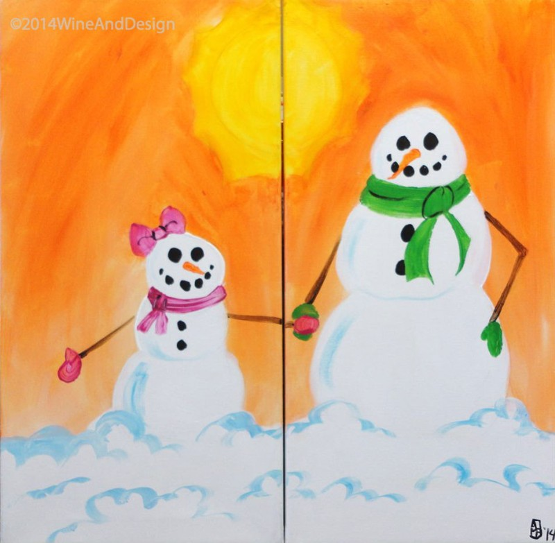 In Studio | Mommy and Me Snowmen