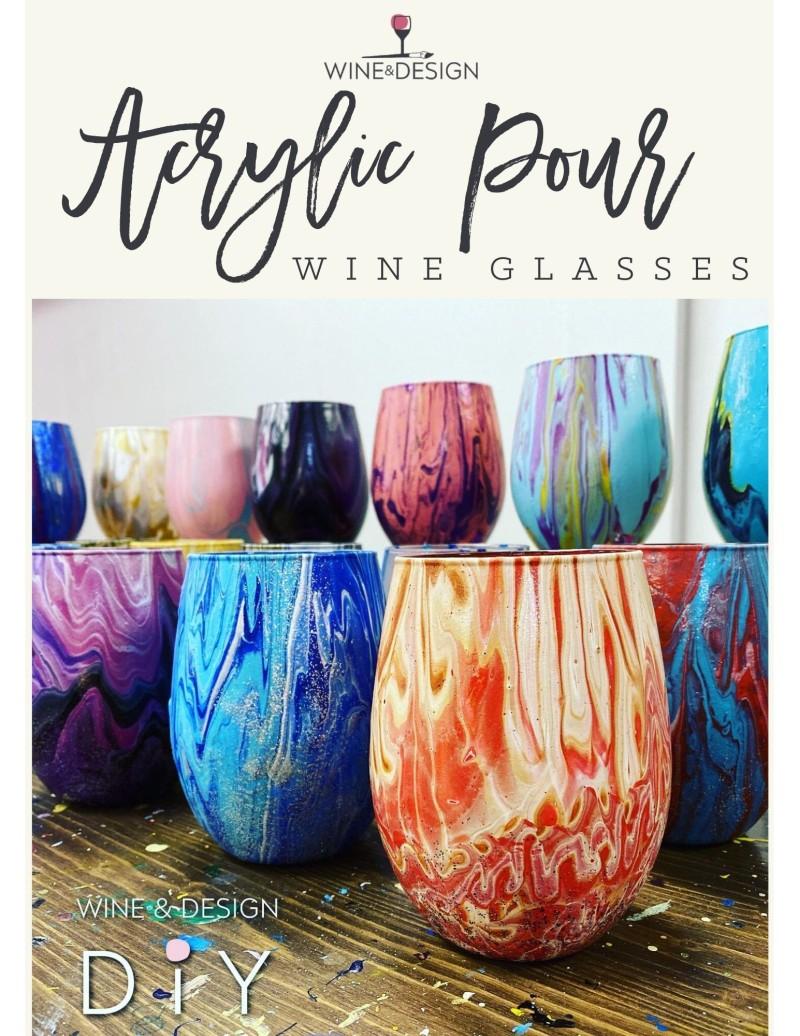 Acrylic Pour Wine Glasses!