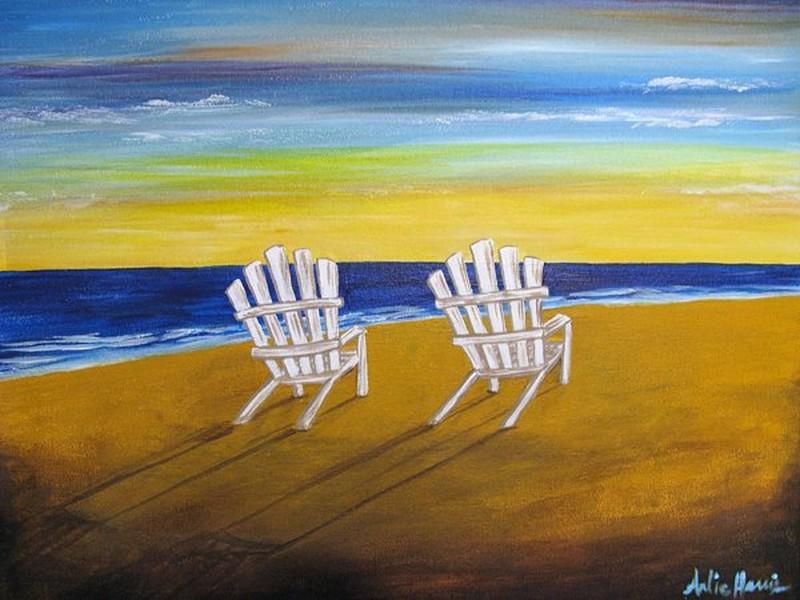 Happy Hour Sunday! Adirondack Chairs 3pm-5pm - In Studio Class
