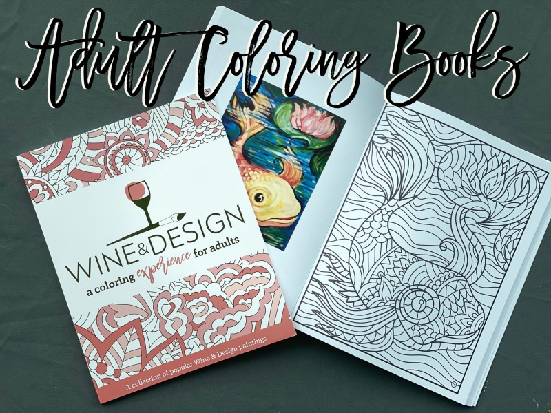 Wine and Design Coloring Books