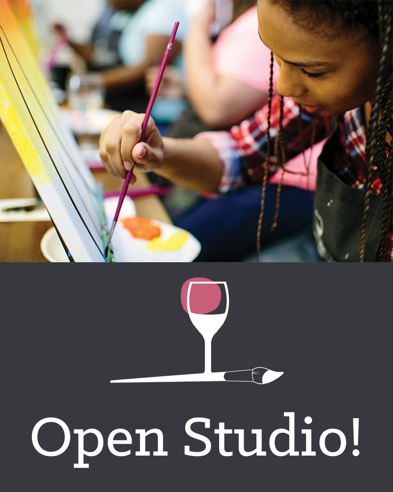 Open Studio. You Choose! Click the link in the description to veiw our painting options.