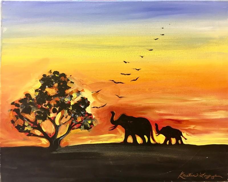 African Sunset - In Studio Class