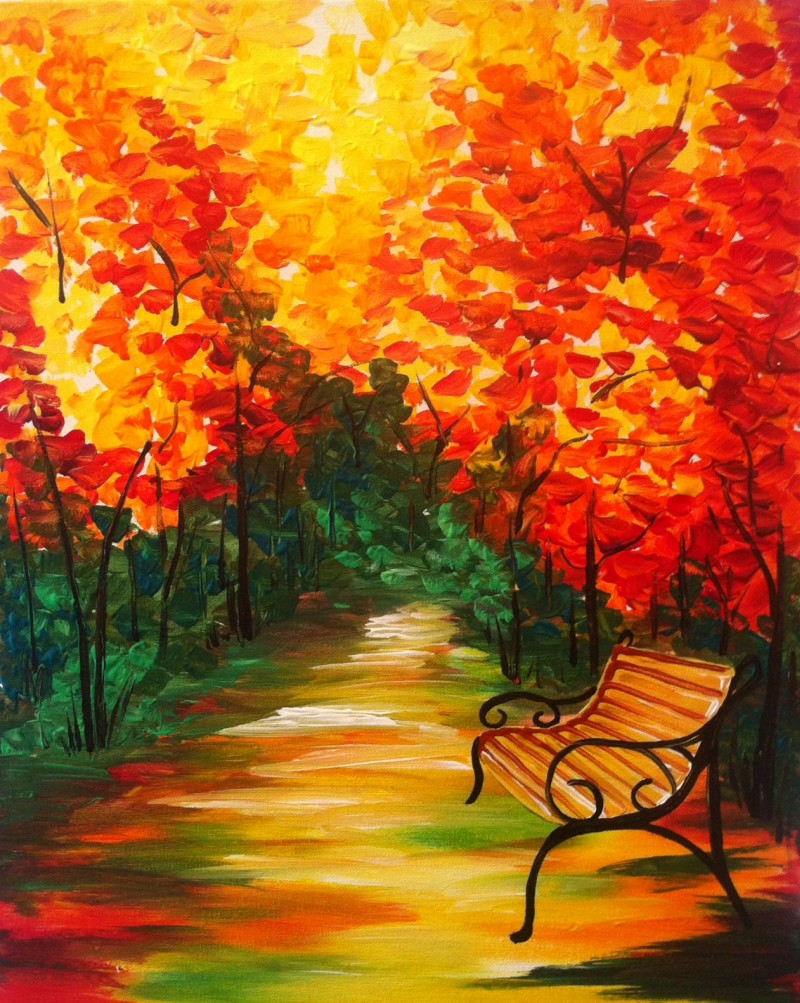 Autumn Bench - ZOOM Virtual Class with Take-Home Kit!