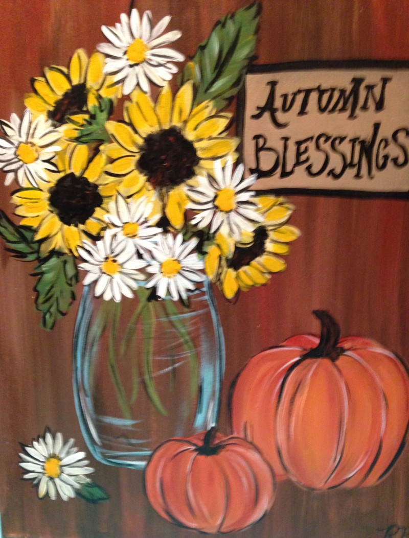 IN-STUDIO: Autumn Blessings - 16x20 Acrylic on Canvas - Chosen by Brandy & Crew!
