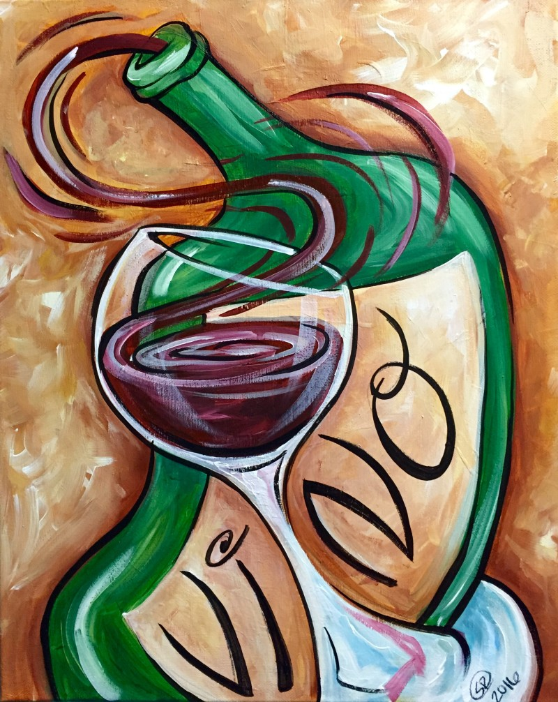 "VIRTUAL CLASS! ""Ballo Vino"" Pick-Up Paint Kits between 2:00-6:00pm. Join us LIVE on Zoom at 8:00pm"