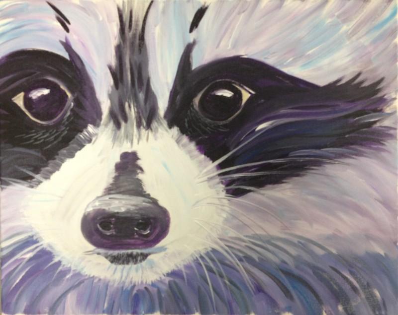 Art in the Park! Bandit the Raccoon