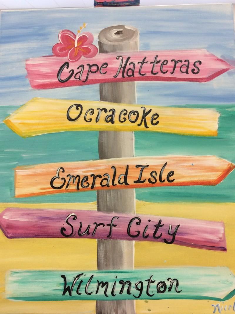 Beach Vacation Sign