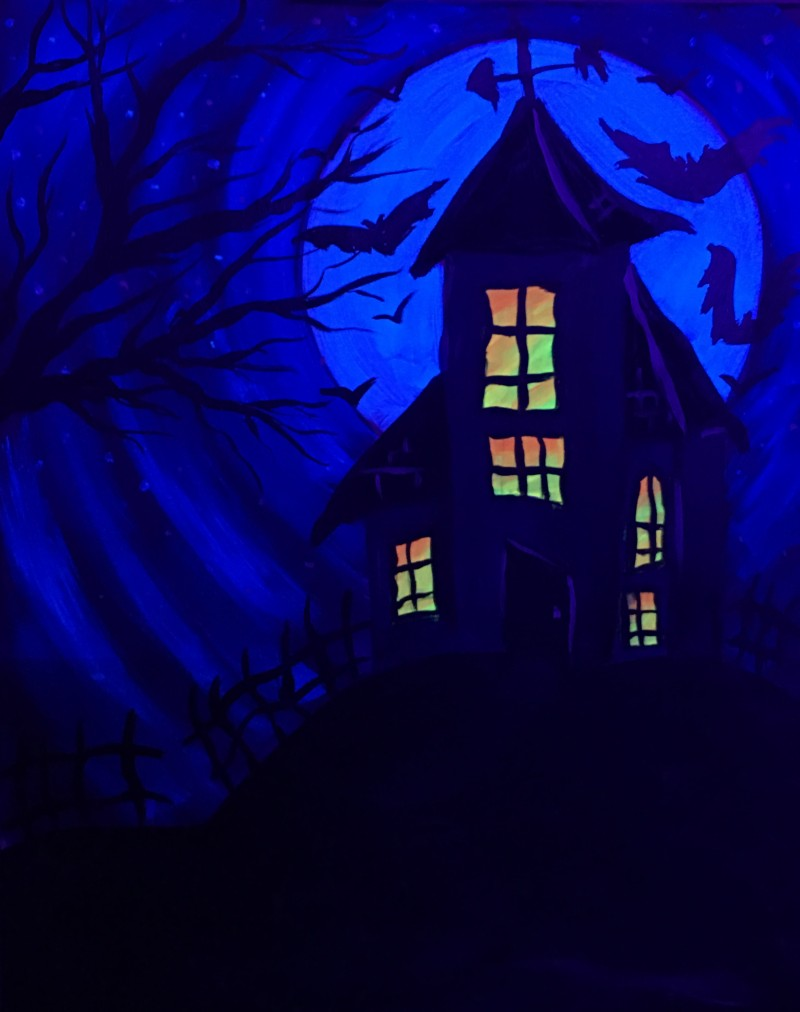 BLACKLIGHT CLASS: Haunted House - In Studio Class