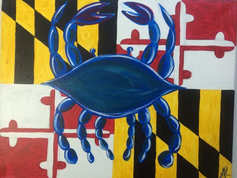 Blue Crab Maryland Flag