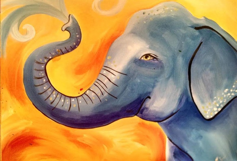 Elephant Splash- IN STUDIO CLASS - Yes we are back! Limited Seating : Only 10 Seats. Book Now!