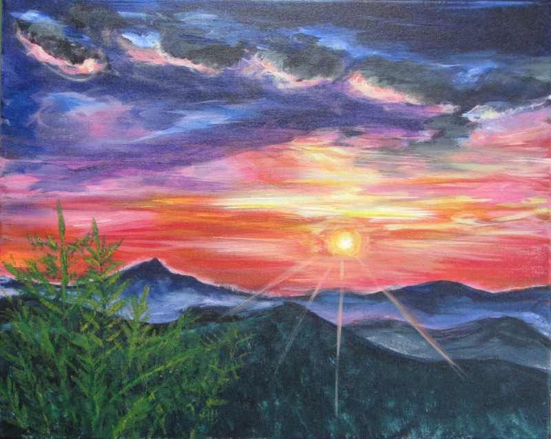 Blue Ridge Mountian Sunset