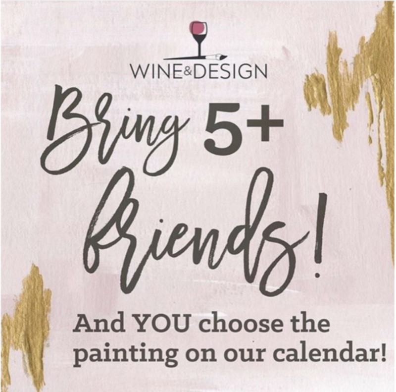 Bring Friends & Choose the Artist-led Painting!